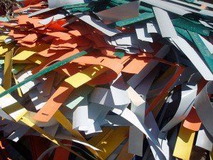 residuos de papel.