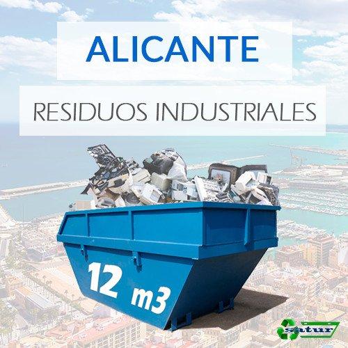 Contenedor para residuos industriales en Alicante de 12m3