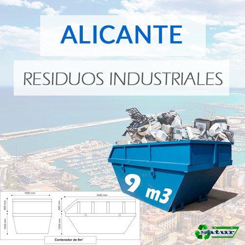 Contenedor para residuos industriales en Alicante de 9m3