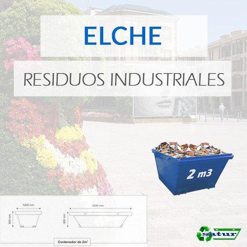 Contenedor para residuos industriales en Elche de 12m3