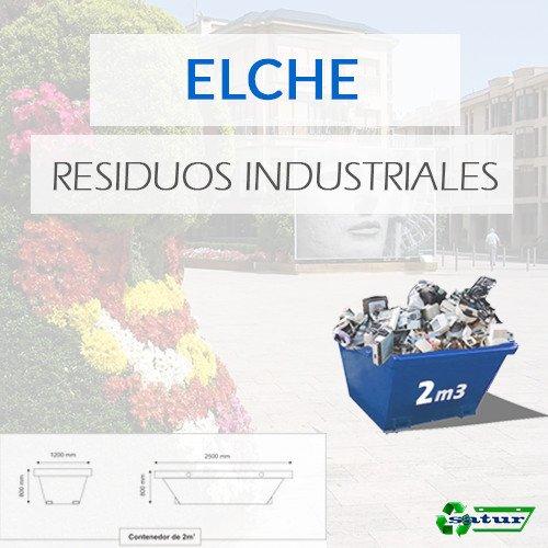 Contenedor para residuos industriales en Elche de 2m3