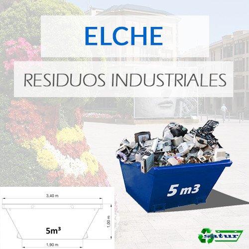 Contenedor para residuos industriales en Elche de 5m3