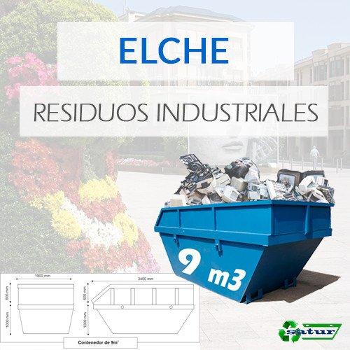 Contenedor para residuos industriales en Elche de 9m3