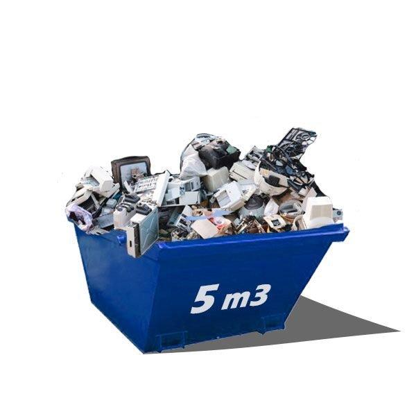 Contenedor para residuos industriales en Alicante de 5m3