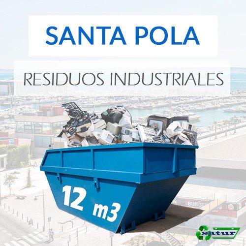 Contenedor para residuos industriales en Santa Pola de 12m3