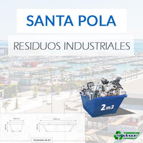 Contenedor para residuos industriales en Santa Pola de 2m3