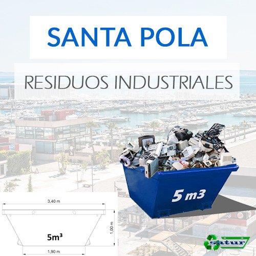 Contenedor para residuos industriales en Santa Pola de 5m3