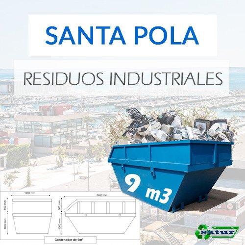 Contenedor para residuos industriales en Santa Pola de 9m3