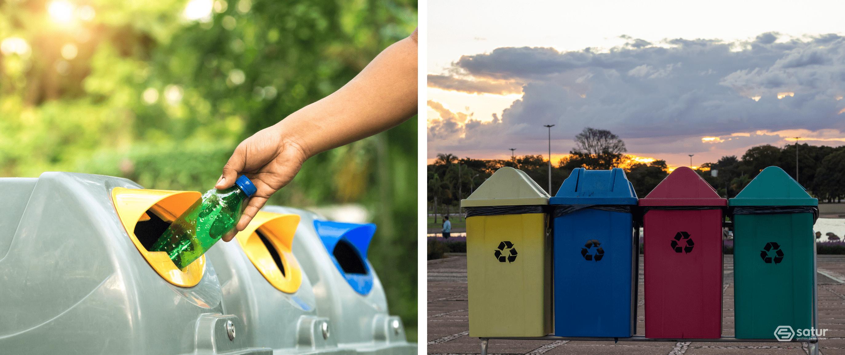 Contenedores para reciclar los residuos urbanos