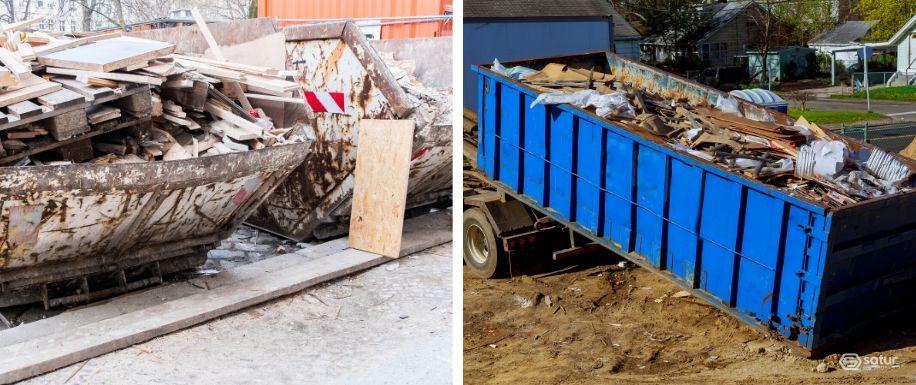 Mal uso del vertido de residuos en contenedores de escombros