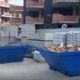 contenedores de escombros durante el estado de alarma