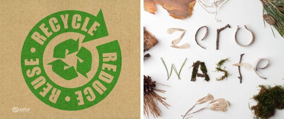 Reciclaje y reutilización de residuos como materias primas